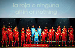 13.11.2013, Compaq Theatre, Madrid, ESP, FIFA WM, RFEF, Trikotpraesentation, Brasilien 2014, im Bild Teamfoto La Roja // Teamfoto La Roja during the Presentation of the New Jerseys of Spanish National Football Team of Brazil World Cup 2014, at the Compaq Theatre in Madrid, Spain on 2013/11/13. EXPA Pictures © 2013, PhotoCredit: EXPA/ Alterphotos/ CARO MARIN<br /> <br /> *****ATTENTION - OUT of ESP, SUI*****