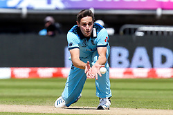 Chris Woakes of England takes caught and bowled to dismiss K. L. Rahul of India - Mandatory by-line: Robbie Stephenson/JMP - 30/06/2019 - CRICKET - Edgbaston - Birmingham, England - England v India - ICC Cricket World Cup 2019 - Group Stage