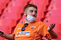 Blackpool supporters enjoying the matchday atmosphere<br /> <br /> Photographer Andrew Kearns/CameraSport<br /> <br /> The EFL Sky Bet League One Play-Off Final - Blackpool v Lincoln City - Sunday 30th May 2021 - Wembley Stadium - London<br /> <br /> World Copyright © 2021 CameraSport. All rights reserved. 43 Linden Ave. Countesthorpe. Leicester. England. LE8 5PG - Tel: +44 (0) 116 277 4147 - admin@camerasport.com - www.camerasport.com