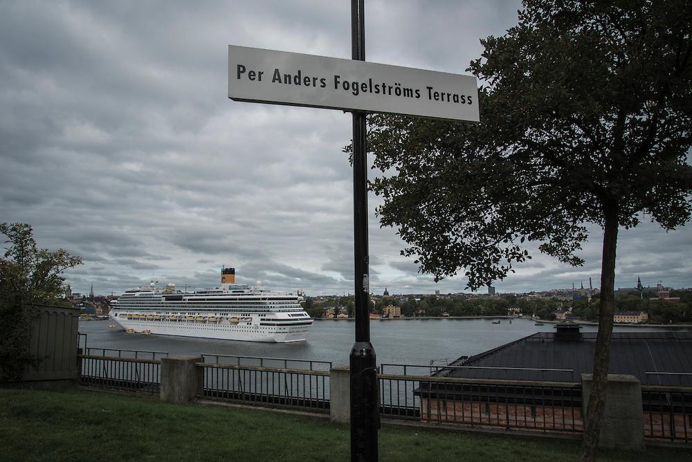 Per Anders Fogelströms Terass på Fjällgatan, Södermalm i Stockholm.