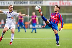 06-04-2019: Voetbal: FC Breukelen v CSW: Breukelen<br /> 1e klasse A -  Seizoen 2018-2019<br /> (L-R) #8 Roy Turksma (FC Breukelen), #8 Menno van der Leeden (CSW)