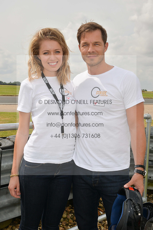 PAUL SCULFOR and FEDERICA AMATI at the Stride Foundation Track Day held at the bedford Autodrome, Bedford on 1st August 2014.