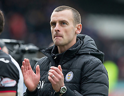 St Mirren manager Oran Kearney during the Ladbrokes Scottish Premier League match at St Mirren Park, St Mirren.