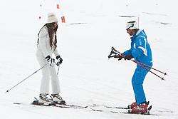 29.04.2011, Ischgl, AUT, Skiurlaub Ruby in Ischgl, Idalpe, im Bild Ruby Rubacuori mit ihrem Skilehrer Michael auf der Ischgler Idalp // Ruby Rubacuori with her Ski Instructor Michael during Skiing at Skiarea Idalp in Ischgl Austria on 29/4/2011. EXPA Pictures © 2011, PhotoCredit: EXPA/ J. Groder