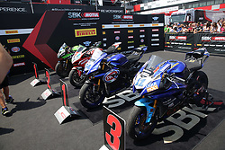 July 8, 2018 - Misano, Italy, Italy - F Caricasulo - R De Rosa - S Cortese during Podium worldSSP the Motul FIM Superbike Championship - Italian Round  Sunday race during the World Superbikes - Circuit PIRELLI Riviera di Rimini Round, 6 - 8 July 2018 on Misano, Italy. (Credit Image: © Fabio Averna/NurPhoto via ZUMA Press)