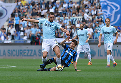 May 6, 2018 - Rome, Lazio, Italy - Stefan de Vrij, Remo Freuler during the Italian Serie A football match between S.S. Lazio and Atalanta at the Olympic Stadium in Rome, on may 06, 2018. (Credit Image: © Silvia Lore/NurPhoto via ZUMA Press)