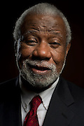 Nolan Richardson during the Naismith Memorial 2014 Basketball Hall of Fame Class Announcement at the Omni Hotel in Dallas, Texas on April 7, 2014. (Cooper Neill)