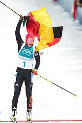 February 12, 2018 - Pyeongchang, South Korea - Laura Dahlmeier of Germany competes in the Women's Biathlon 10km Pursuit during day three of the 2018 Winter Olympics. (Credit Image: © Jon Olav Nesvold/Bildbyran via ZUMA Press)