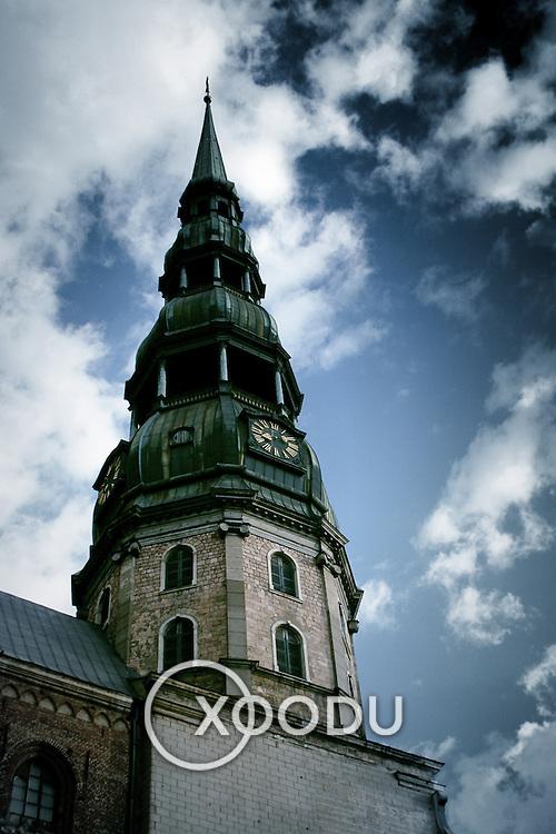St. Peter's spire, Riga, Latvia (July 2005)