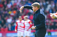 Grant McCann of Doncaster Rovers (Manager) during the EFL Sky Bet League 1 play off first leg match between Doncaster Rovers and Charlton Athletic at the Keepmoat Stadium, Doncaster, England on 12 May 2019.