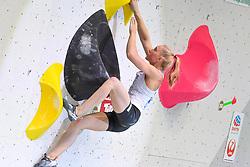 26.06.2021, Kletterzentrum, Innsbruck, AUT, IFSC, Austria Climbing Open 2021, Damen, Boulder, Finale, im Bild Janja Garnbret (SLO) // Janja Garnbret of Slovenia during the final of women Boulder competition of the Austria Climbing Open 2021 at the Kletterzentrum in Innsbruck, Austria on 2021/06/26. EXPA Pictures © 2021, PhotoCredit: EXPA/ Erich Spiess