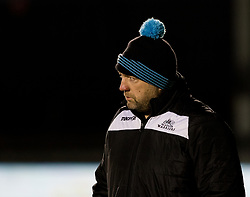 Glasgow Warriors Coach Jonathan Humphreys during the pre match warm up<br /> <br /> Photographer Simon King/Replay Images<br /> <br /> Guinness PRO14 Round 14 - Dragons v Glasgow Warriors - Friday 9th February 2018 - Rodney Parade - Newport<br /> <br /> World Copyright © Replay Images . All rights reserved. info@replayimages.co.uk - http://replayimages.co.uk