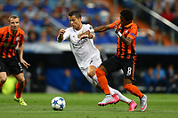 Cristiano Ronaldo of Real Madrid evades Fred of Shakhtar Donetsk during the UEFA Champions League Group A football match between Real Madrid and Shakhtar Donetsk on September 15, 2015 at Santiago Bernabeu stadium in Madrid, Spain. <br /> Photo Manuel Blondeau / AOP PRESS / DPPI
