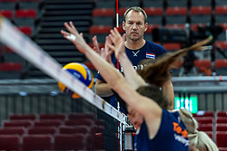 06-10-2018 JPN: World Championship Volleyball Women day 7, Nagoya<br /> Press conference coaches group Nagoya after training day for Netherlands and Brazil / Manager Marc de Haan