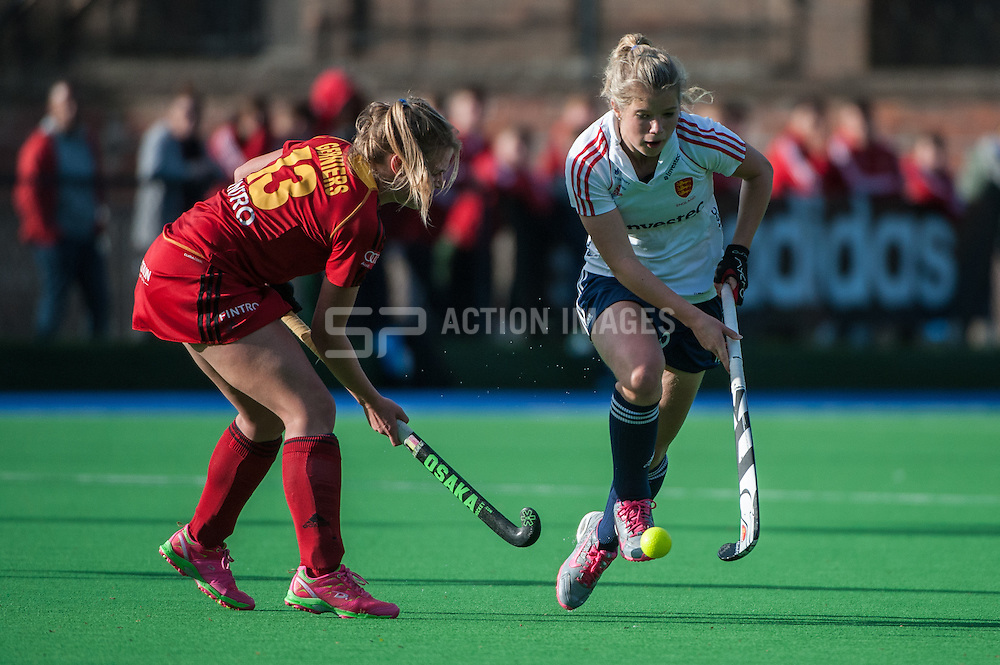 England's Sophie Bray. England v Belgium, Bisham Abbey, Marlow, UK on 09 May 2014. Photo: Simon Parker