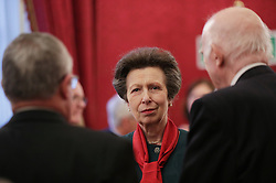 December 12, 2016 - London, United Kingdom - Image licensed to i-Images Picture Agency. 08/12/2016. London, United Kingdom. The Princess Royal  at a  Christmas Party at St James's Palace, London for The Not Forgotten Association - a national tri-service charity which provides entertainment, leisure and recreation for the serving wounded, injured or sick and for ex-service men and women with disabilities. Picture by ROTA / i-Images  UK OUT FOR 28 DAYS (Credit Image: © Rota/i-Images via ZUMA Wire)