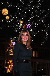 Carol Vorderman switches on the festive Mount Street Christmas Lights along the Mayfair shopping street. London, United Kingdom, November 22, 2012. Photo by Nils Jorgensen / i-Images.
