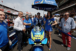 June 17, 2018 - Barcelona, Catalonia, Spain - Andrea Iannone (29) of Italy and Team Suzuki Ecstar during the race day of the Gran Premi Monster Energy de Catalunya, Circuit of Catalunya, Montmelo, Spain. 17th June of 2018. (Credit Image: © Jose Breton/NurPhoto via ZUMA Press)