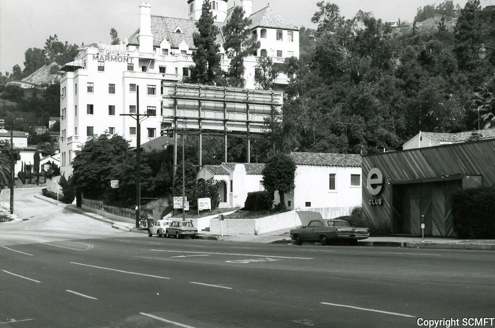 1973 Chateau Marmont Hotel on Sunset Blvd