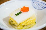 Cabbage, served as a side dish to bibimbap. Seoul, South Korea