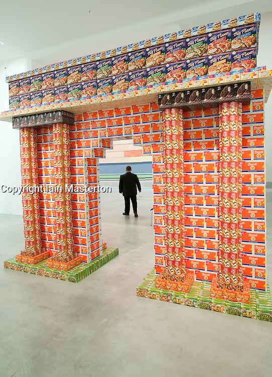 Cardboard sculpture at Berlinische Galerie modern art museum in Mitte Berlin Germany