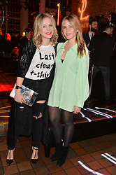 Left to right, POPPY JAMIE and JAZZY DE LISSER at the YSL Beauty: YSL Loves Your Lips party held at The Boiler House,The Old Truman Brewery, Brick Lane,London on 20th January 2015.