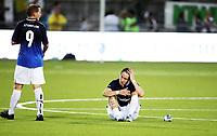 Fotball , 8. august 2013 , Europa League , Third Qual.<br /> Strømsgodset - Jablonec<br /> <br /> Stefan Johansen  (th), SIF  og Øyvind Storflor , SIF, er skuffet etter tap