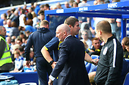 Burton Albion manager Nigel Clough and Queens Park Rangers manager Ian Holloway shake hands during the EFL Sky Bet Championship match between Queens Park Rangers and Burton Albion at the Loftus Road Stadium, London, England on 23 September 2017. Photo by John Potts.