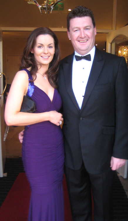 Karen and Tadgh Lyne at the John Burke commemorative ball in the Armada Hotel.