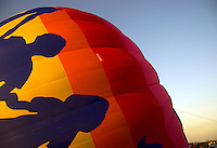 Hot Air Balloon being inflated at the 25th Annual Sunrise Community Hot Air Balloon Event. Sunrise Coomunity is a non profit service provider of programs that supports people with living mental and physical challenges.