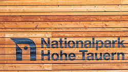 THEMENBILD - der Schriftzug und das Logo Nationalpark Hohe Tauern im Wildpark Ferleiten, aufgenommen am 29. April 2018 in Taxenbacher-Fusch, Österreich // the lettering and the logo Hohe Tauern National Park at the Wildlife Park, Taxenbacher-Fusch, Austria on 2018/04/29. EXPA Pictures © 2018, PhotoCredit: EXPA/ Stefanie Oberhauser