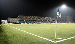 Et kig ud over stadion under kampen i 1. Division mellem HB Køge og FC Helsingør den 4. december 2020 på Capelli Sport Stadion i Køge (Foto: Claus Birch).