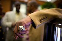 New York Giants receive Tiffany's Supper Bowl Rings May 29, 2008. Photographer: Robert Caplin For The New York TImes..