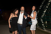 SUSAN YOUNG; RICHARD YOUNG; HANNAH YOUNG, Serpentine's Summer party co-hosted with Christopher Kane. 15th Serpentine Pavilion designed by Spanish architects Selgascano. Kensington Gardens. London. 2 July 2015.
