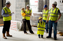 Cassa Hotel Chestefield Site Visit by local 4 year old boy Jacob Bradley .21st  May 2010 .Images © Paul David Drabble..