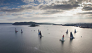 La Route des Princes. Plymouth. UK<br /> The Edmond de Rothschild MOD70 in action today,  Skippered by Sébastien Josse (FRA) <br /> Credit: Lloyd Images