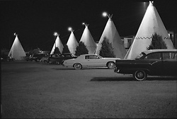 Wigwam Motel Holbrook Arizona on 23 March 2008. Shoot on Kodak TMax 3200 B&W Film. Nikon Camera F Body.