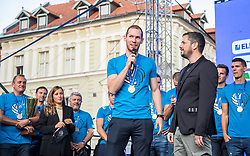 Tine Urnavt during the Day for the medals: Reception of Slovenian sport heroes on 30.9.2019 on Kongresni square, Ljubljana, Slovenia. Photo by Urban Meglič / Sportida