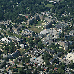 Aerial views of the West Chester University, West Chester, PA