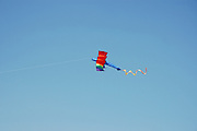 A kite in the shape of a biplane
