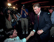 Former Republican Vice President Dan Quayle attends the Road to Victory event at the Christian Coalition Conference September 19, 19989 in Washington, DC.