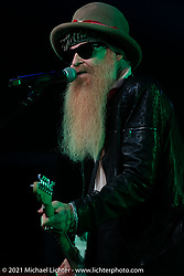 Billy Gibbons with his BFGs play the Main Stage at Loretta's Roadhouse during the Tennessee Motorcycles and Music Revival at Loretta Lynn's Ranch. Hurricane Mills, TN, USA. Saturday, May 22, 2021. Photography ©2021 Michael Lichter.
