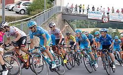 08.07.2017, Wels, AUT, Ö-Tour, Österreich Radrundfahrt 2017, 6. Etappe von St. Johann/Alpendorf nach Wels (203,9 km), im Bild Stefan Denifl (AUT, Team Aqua Blue Sport) im gelben Trikot im Feld // Stefan Denifl of Austria (Aqua Blue Sport) in the yellow jersey in peleton during the 6th stage from St. Johann/Alpendorf to Wels (203,9 km) of 2017 Tour of Austria. Wels, Austria on 2017/07/08. EXPA Pictures © 2017, PhotoCredit: EXPA/ Reinhard Eisenbauer