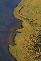 aerial view of Laitaure delta, Sarek National Park, Laponia World Heritage Site, Sweden