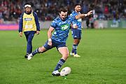 Harry Plummer. <br /> Blues v Highlanders, Sky Super Rugby Trans-Tasman Final. Eden Park, Auckland. New Zealand. Saturday 19 June 2021. © Copyright Photo: Andrew Cornaga / www.photosport.nz