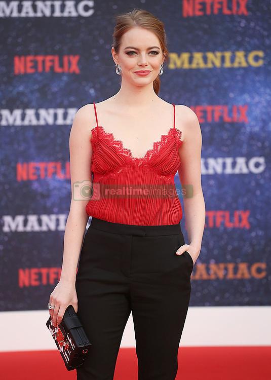 September 16, 2018 - London, England, United Kingdom - 9/13/18.Emma Stone at the Netflix Television series premiere of ''Maniac''..(London, England, UK) (Credit Image: © Starmax/Newscom via ZUMA Press)