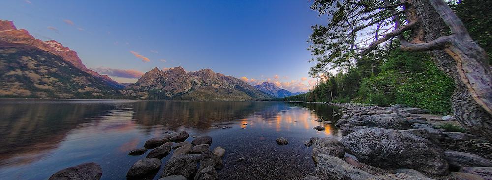 Jenny Lake Panorama taken at Sunrise