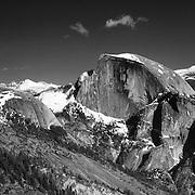 Half Dome Panoramic From Yosemite Point - Yosemite - Black & White