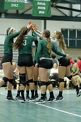 23 September 2017:   during an NCAA womens division 3 Volleyball match between the Tufts Jumbos and the Illinois Wesleyan Titans in Shirk Center, Bloomington IL