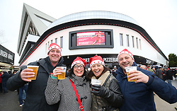 Supporters enjoying a drink before the game between Bristol City and Reading